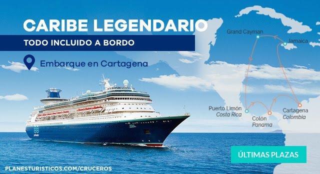 CRUCERO DESDE CARTAGENA - CARIBE LEGENDARIO