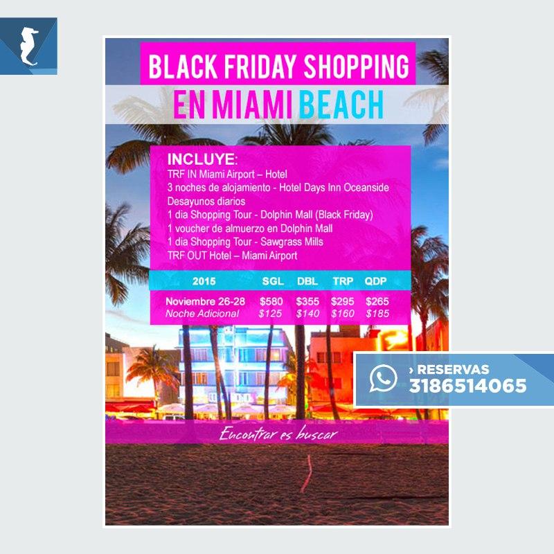 OFERTAS BLACK FRIDAY MIAMI.001 - Black Friday Shopping en Miami Beach · Desde 3 noches