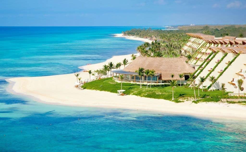Grand Velas Riviera Maya Aerial View 14 - Los Hoteles Del Caribe Mexicano Abrirán A Partir Del 8 De Junio