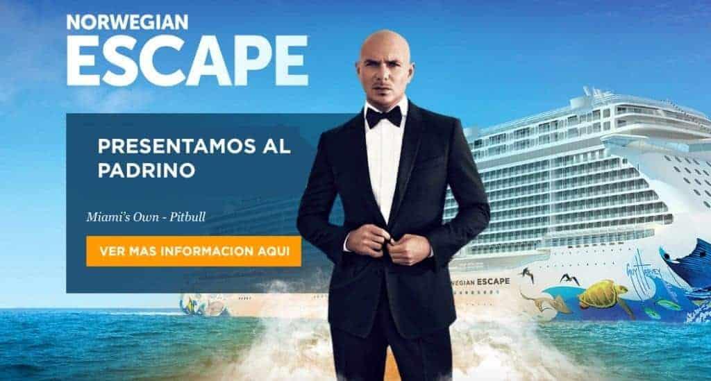 Norwegian Pitbull 1024x549 - Norwegian Cruise Line anuncia a Pitbull como el padrino del Norwegian Escape