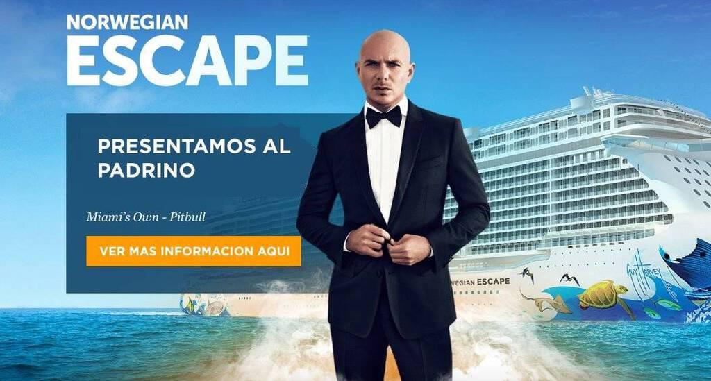 Norwegian Pitbull - Norwegian Cruise Line anuncia a Pitbull como el padrino del Norwegian Escape