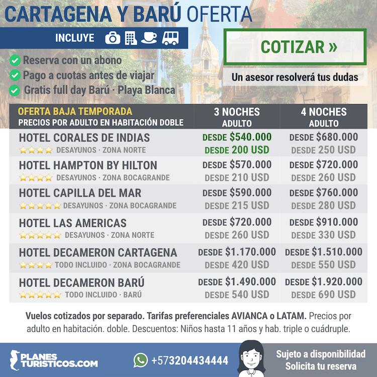 Cartagena y bar todo incluido for Decameron bogota oficinas