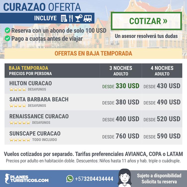 Curazao - Diferentes ofertas para visitar Curazao en temporada baja