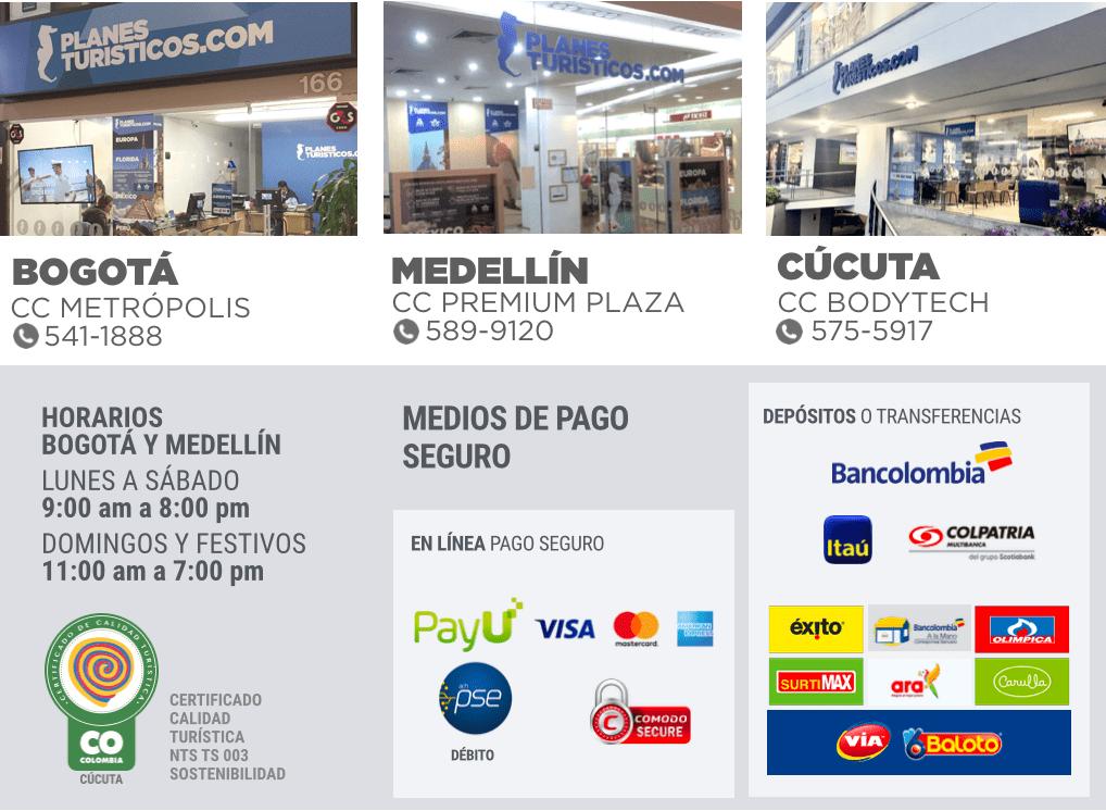 OFICINAS BOGOTÁ - MEDELLÍN - CÚCUTA - MEDIOSD DE PAGO