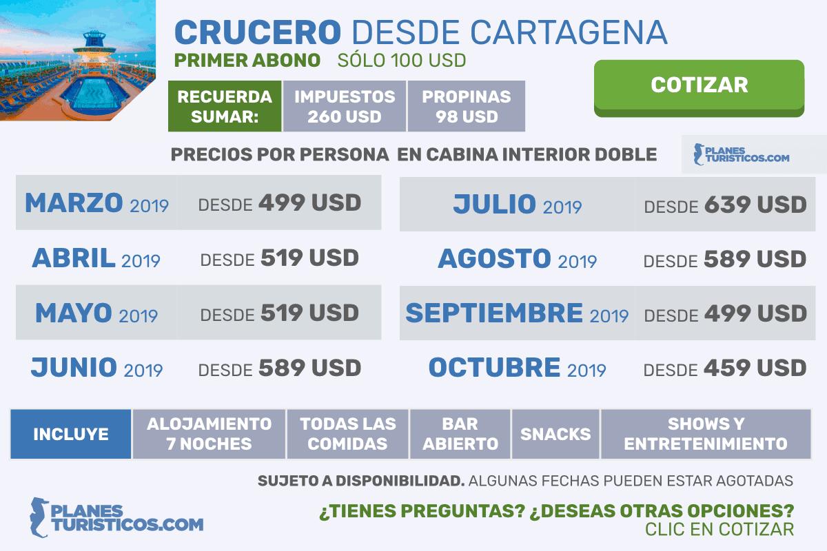 Oferta Crucero desde Cartagena
