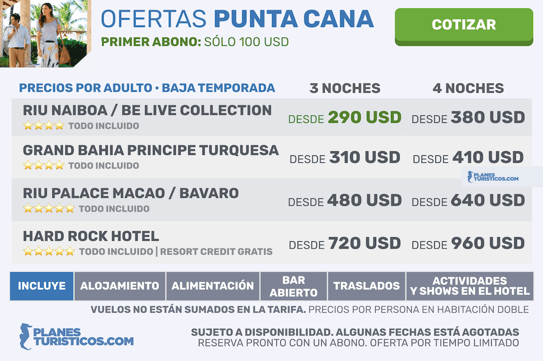 PUNTA CANA - Punta Cana: Planes todo incluido