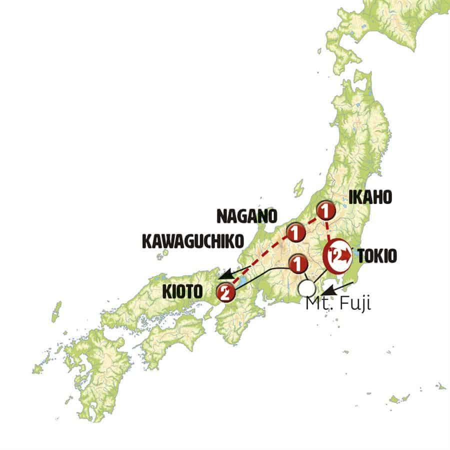 Mapa Japon Central