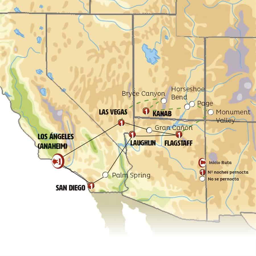 Mapa oeste