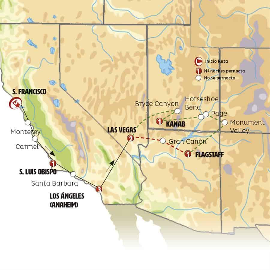 17362 - San Francisco, Los Angeles Y Las Vegas Con Gran Cañon / 11 Dias