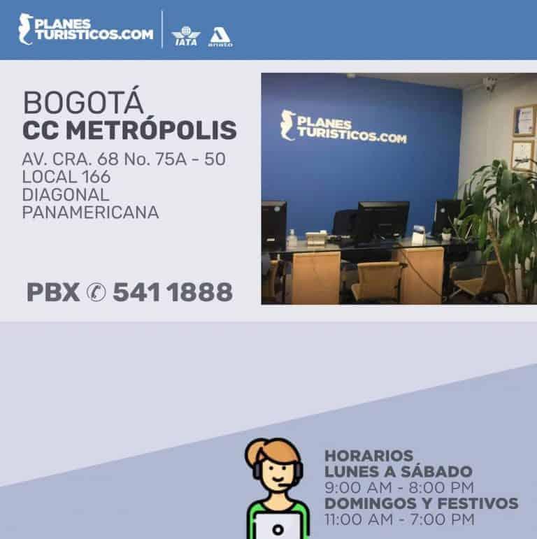 Agencia de viajes en Bogotá CC Metrópolis
