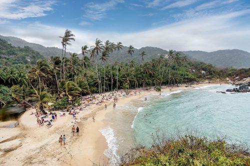 Canva Beach at Tayrona National Park Santa Marta in Colombia min 500x333 - Oferta Santa Marta · 4 Días 3 Noches · Alimentación Completa y Tours