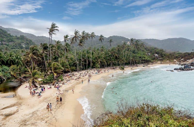 Canva Beach At Tayrona National Park Santa Marta In Colombia Min - Santa Marta Paquetes Y Planes 2021