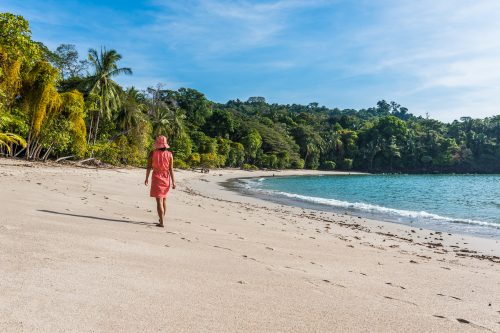 Canva Manuel Antonio Costa Rica Girl Walking At Beautiful Beach 500x333