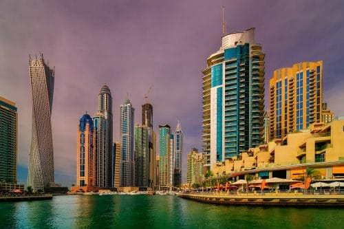 Amazing dubai marina skyline, Dubai, United Arab Emirates.
