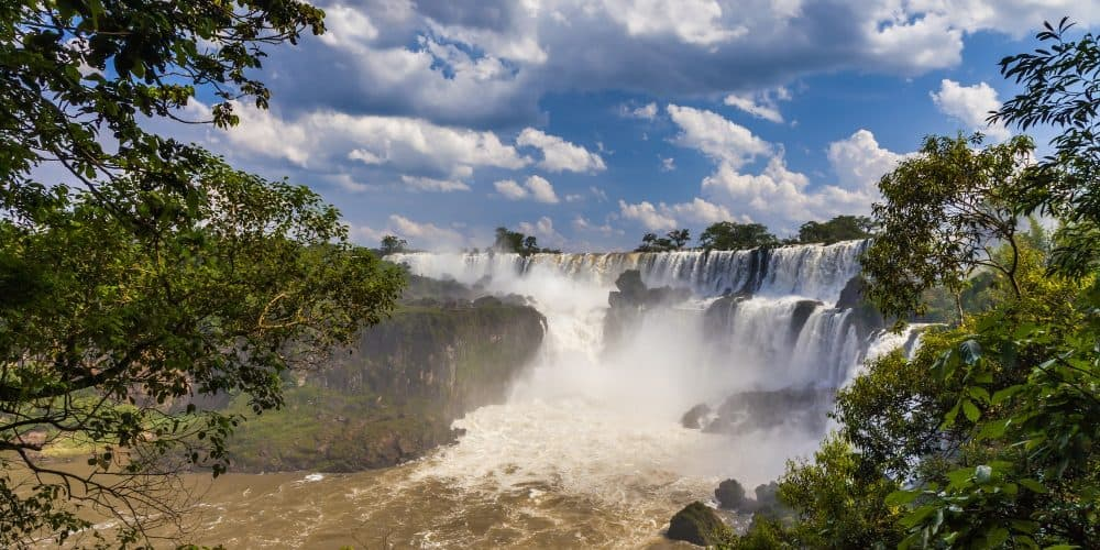 Beautiful landscape with views of the Iguazu Falls. Argentina