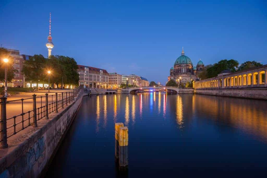 Berlin River Spree, Berliner Dom, and TV Tower
