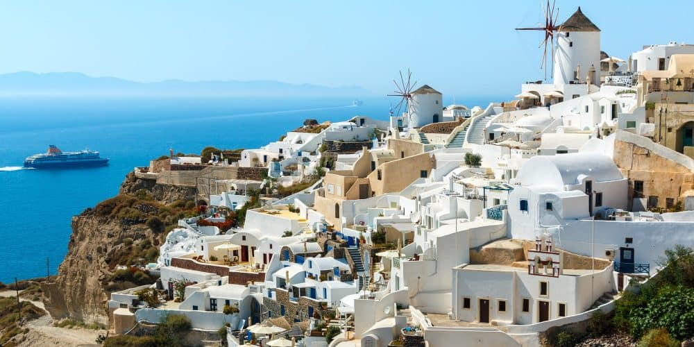 Buildings On The Hill In Oia Town, Santorini