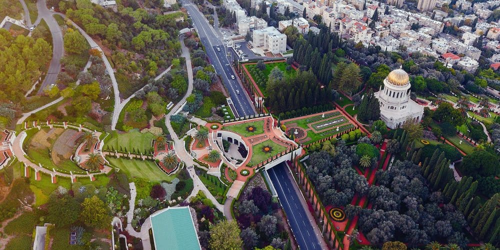Flyover Of The Gardens In Haifa