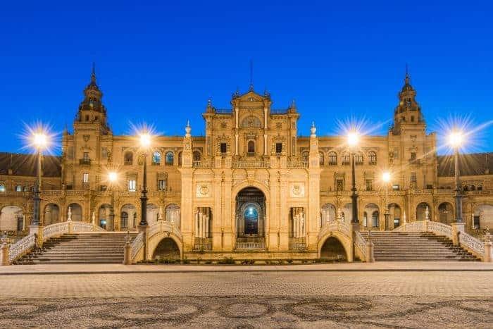 Plaza De Espana In Sevilla,Spain
