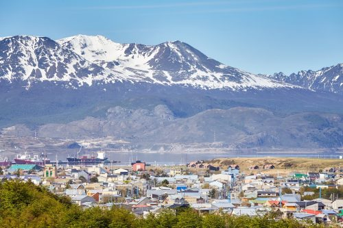 Ushuaia City, Capital Of Tierra Del Fuego, Argentina.