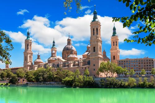Canva Cathedral and Ebro river in Zaragoza. Aragon Spain 500x333 - Andalucia Levante- 7 Días / 6Noches