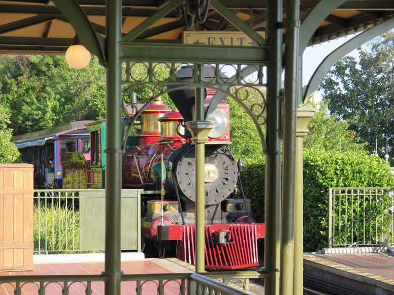 Canva Train At Magic Kingdom Rail Station - Blog