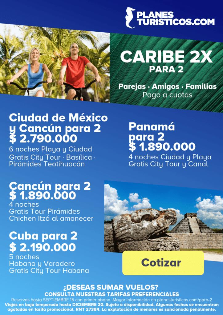 CARIBE 2X min - Ofertas: Caribe para 2
