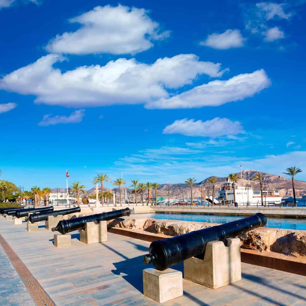 Canva Cartagena Cannon Naval Museum Port 1200x1200 - ¿Qué hacer en Cartagena?