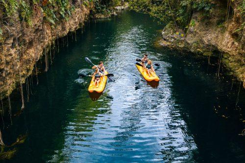 Xcaret Xenotes Kayaks Xenotes 02 Min - Tripsb
