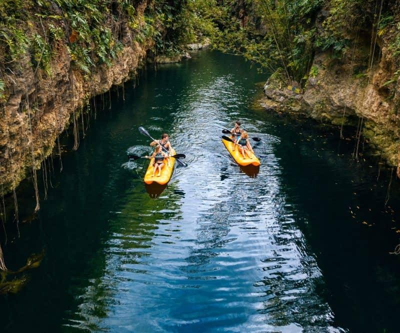 Xcaret Xenotes Kayaks Xenotes 02 Min - México: Cancún Y Riviera Maya | Viajes Y Paquetes 2021