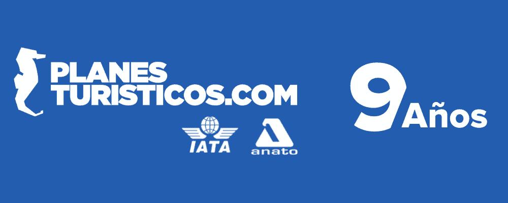 Logo Planesturisticos.com Aniversario 9 - Carrito