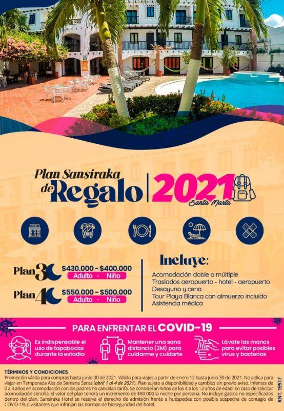 Plan Sansiraka De Regalo - Santa Marta Plan Sansiraka De Regalo Desde 3 Noches | Oferta 2021