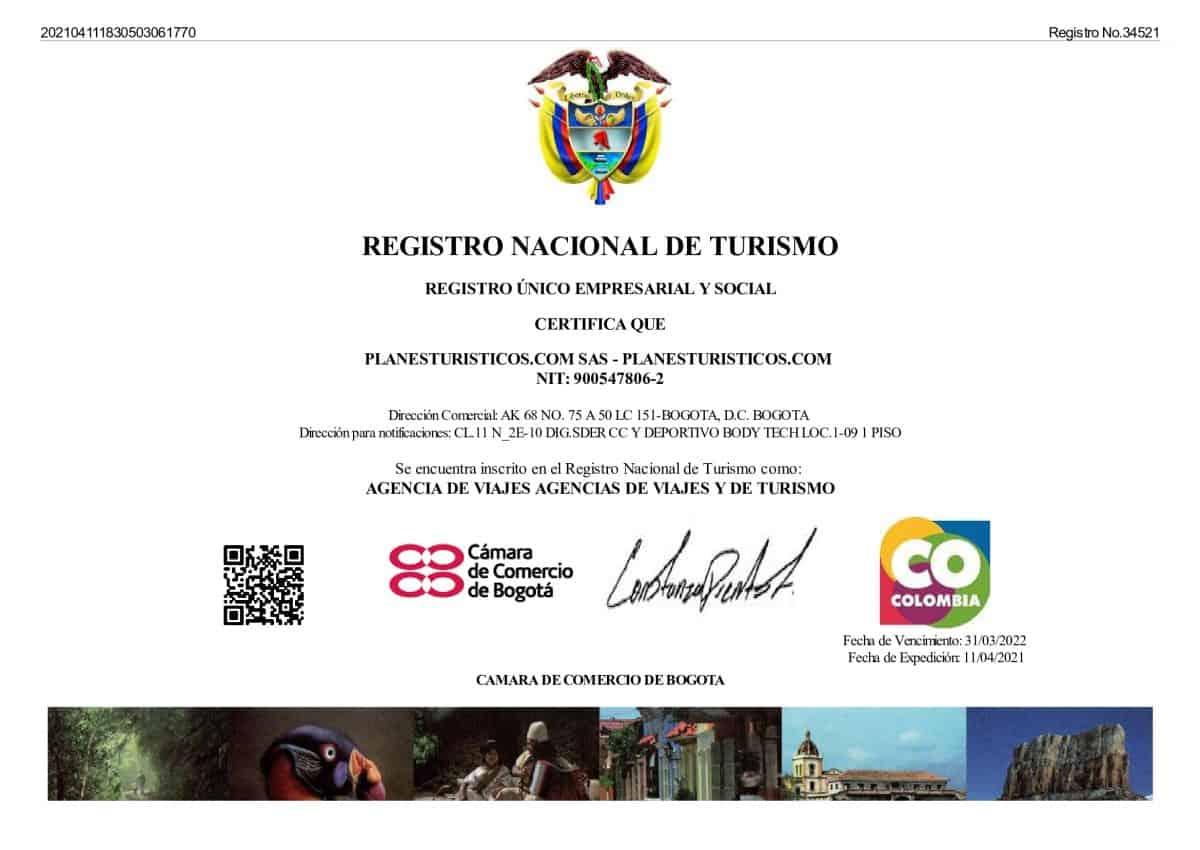 Rnt Bogota Planesturisticos.com - La Empresa