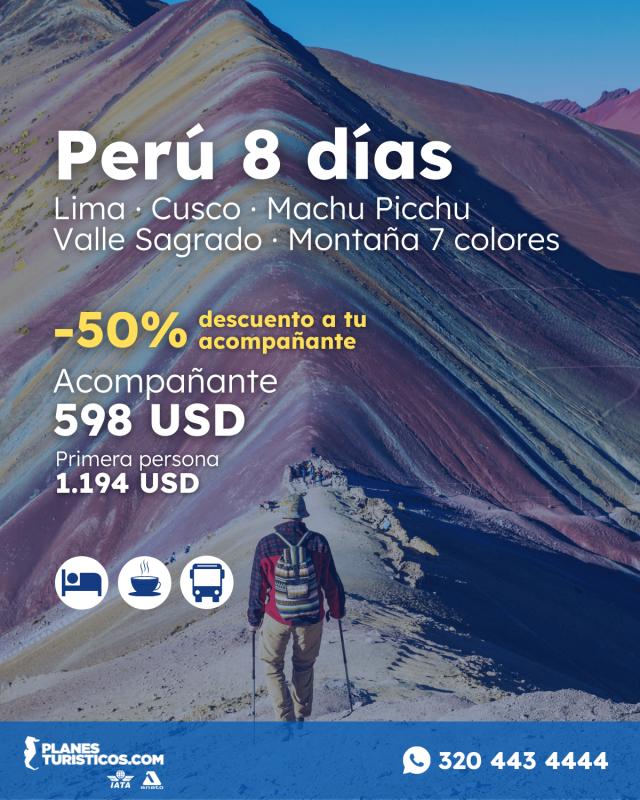 Oferta Peru 5 Días Cusco Machu Picchu Valle Sagrado Y Vinicunca Con Planesturisticos.com - Perú 8 Días | -50% Descuento En Acompañante | Lima, Cusco, Machu Picchu, Valle Sagrado | Hasta Diciembre 2021