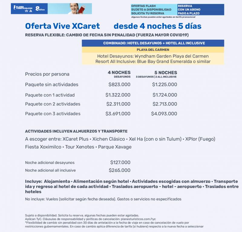 Oferta Vive Xcaret Con Planesturisticos.com