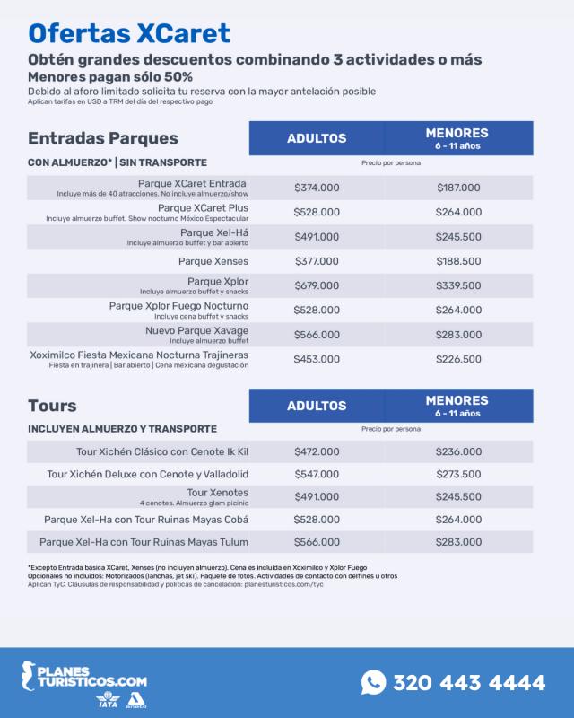 Parques Y Tours Xcaret Con Planesturisticos.com