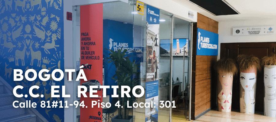 Oficina Bogota Cc El Retiro Planesturisticos.com - Planes Turísticos