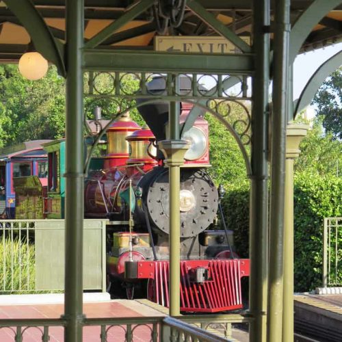 Train at Magic Kingdom rail station on February 10, 2015 in Orlando - Florida