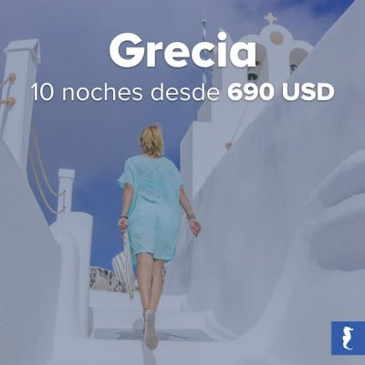 Grecia - Mujer Subiendo Las Escaleras De Una Edificación Blanca Con Una Cruz En Lo Más Alto