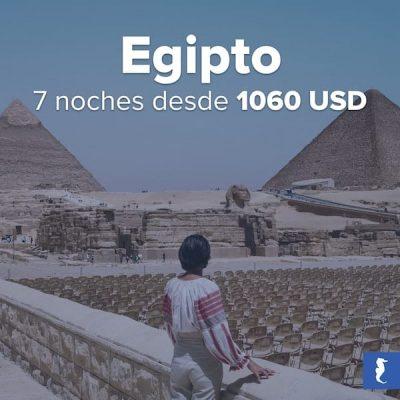 Egipto - Mujer Contemplando Desde Un Balcon Las Efigies Y Las Pirámides Egipcias